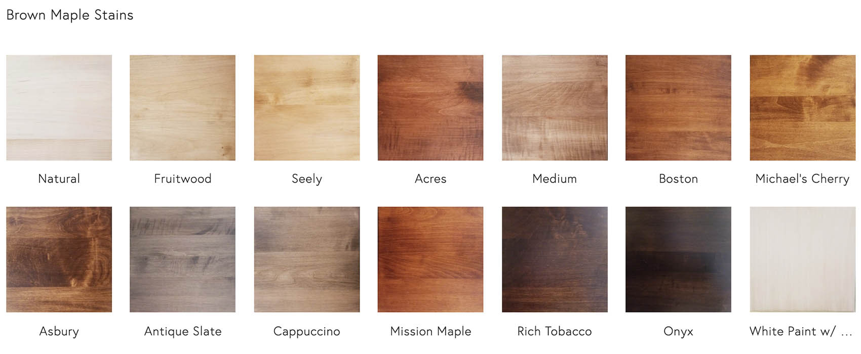 Brown Maple Stains