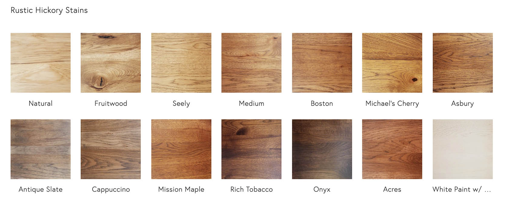 Rustic Hickory Stains
